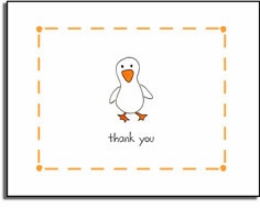 personalized invitations �just ducky thank you