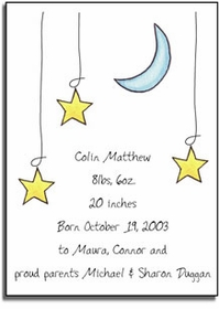personalized invitations � moon and stars