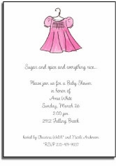 personalized invitations � pink frock