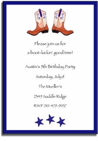 personalized invitations � ride�em cowboy