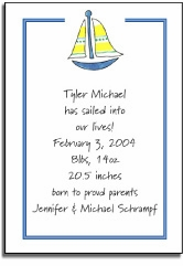 personalized invitations � sailing in