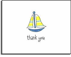 personalized invitations �sailing in thank you