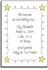 personalized invitations � stars & squiggles