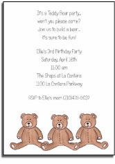 personalized invitations � teddy bear party