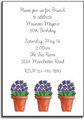 personalized invitations � very violet