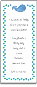 personalized invitations � whale of a time