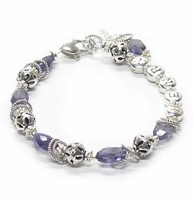 personalized iolite envy bracelet