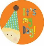personalized it's my day! {blond boy} plate