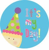personalized it's my day! {blond girl} plate