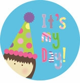 personalized it's my day! {brunette girl} plate