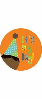 personalized it's my day! {dark-skinned boy} plate
