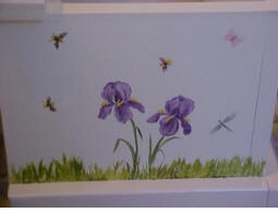 personalized keepsake chest-butterflies and violets