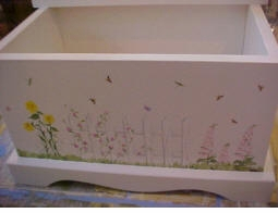 personalized keepsake chest - butterflies & daisies