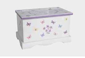 personalized keepsake chest - butterfly