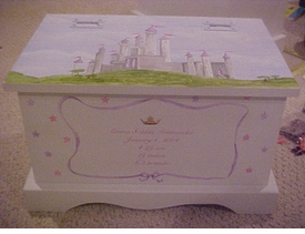 personalized keepsake chest - castles