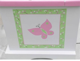 personalized keepsake chest - pink country critters