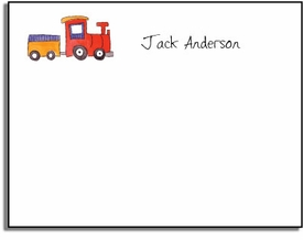personalized kelly hughes kids notes - choo choo
