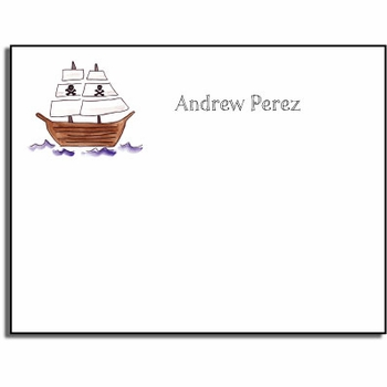 personalized kids notes - ahoy matey