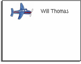 personalized kids notes - airplane note