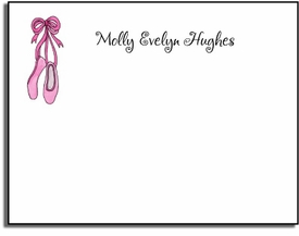 personalized kids notes - ballerina girl