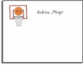 personalized kids notes - basketball star