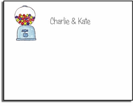 personalized kids notes - bubble gum