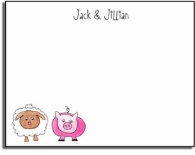 personalized kids notes � farm friends