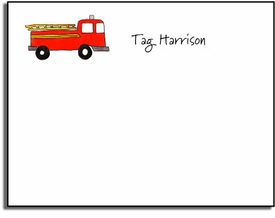personalized kids notes � firetruck