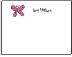 personalized kids notes � flutter butterfly
