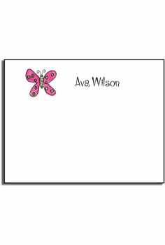 personalized kids notes – flutter butterfly