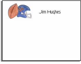 personalized kids notes � football fanatic