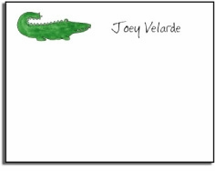 personalized kids notes � green gator