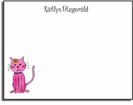 personalized kids notes � kitty kitty cat