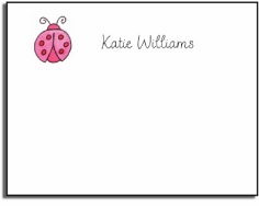 personalized kids notes � little ladybug