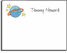 personalized kids notes � outer space