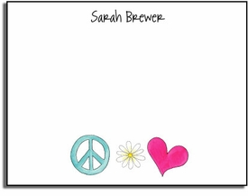 personalized kids notes � peace & love