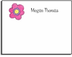 personalized kids notes � pink daisy