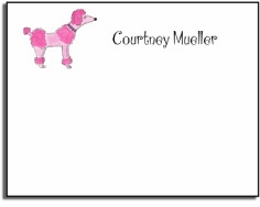 personalized kids notes � pink poodle