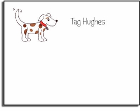 personalized kids notes � puppy dog