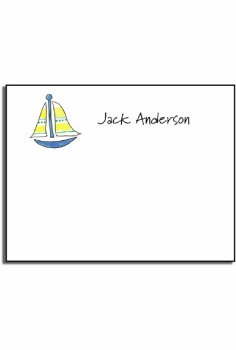 personalized kids notes – sailboat