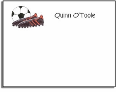 personalized kids notes � soccer stud