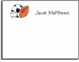 personalized kids notes � sports fan