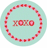 personalized kisses & hugs holiday plate (style 1p)