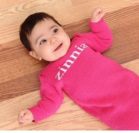 personalized knit layette gown (solid)