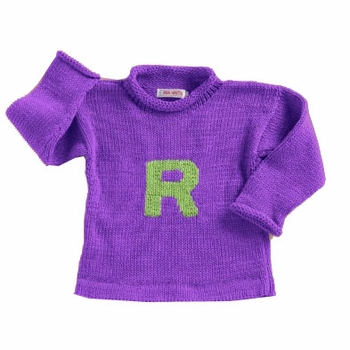 personalized knit letter sweater