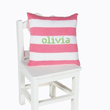 personalized knit name pillow 10x10