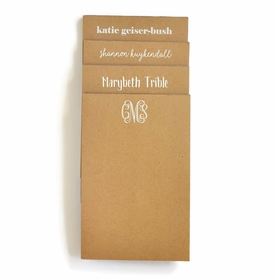 Personalized Large Kraft Note Pad