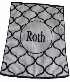 personalized lattice design stroller blanket