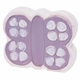 personalized lavender butterfly coin bank