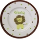 personalized lazy lion plate
